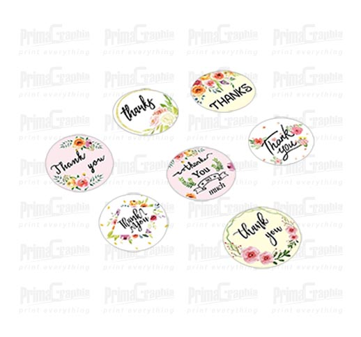 Sticker Label Bulat